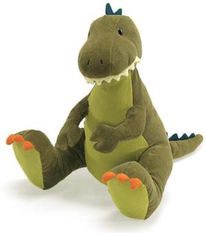 gund – peluche dientez fuera de dinozaurio 30 cm aprox