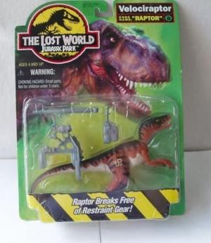 jurassic park the lost world – velociraptor original 1996 descatalogado