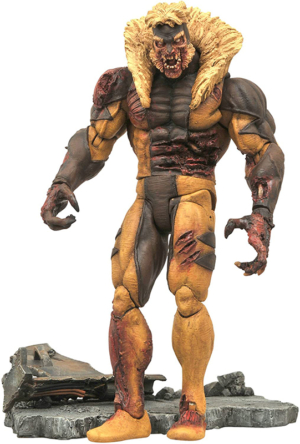 marvel comics zombie sabretooth – dientes de sable 18 cm