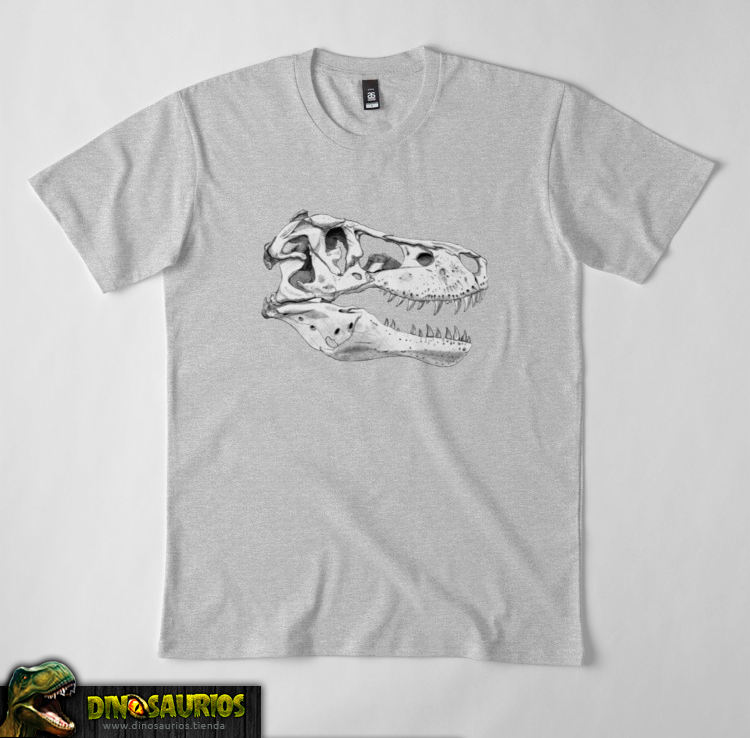 camiseta de dinosaurios fossil calavera