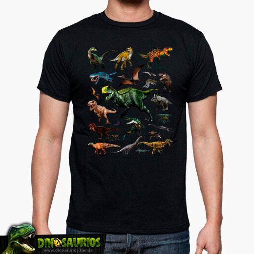 camiseta dinosaurios hombre
