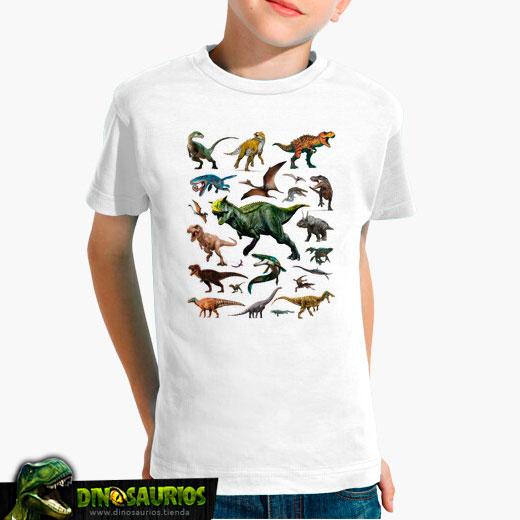 camiseta mural dinosaurios nueva