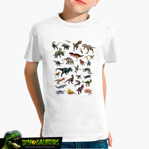 camiseta mural dinosaurios
