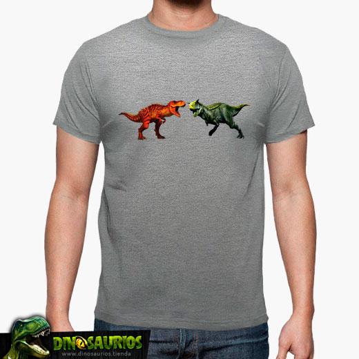 camiseta pelea de dinosaurios