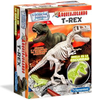clementioni arqueojugando t rex fluorescente juego de ciencia educativo