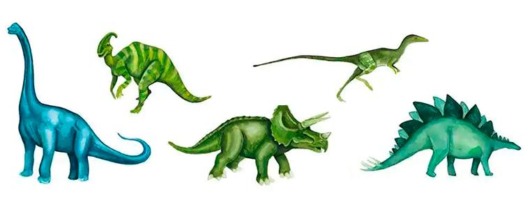diferentes nombres de dinosaurios