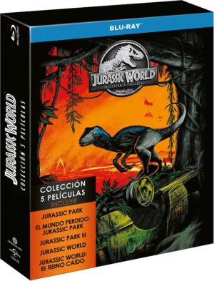 jurassic world y parque jurasico coleccion 5 peliculas blu ray