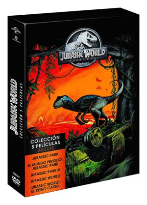 jurassic world y parque jurasico coleccion 5 peliculas dvd