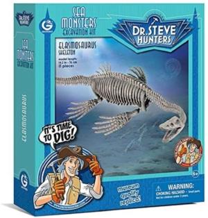 kit de excavacion dr steve hunters monstruos marinos elasmosaurus