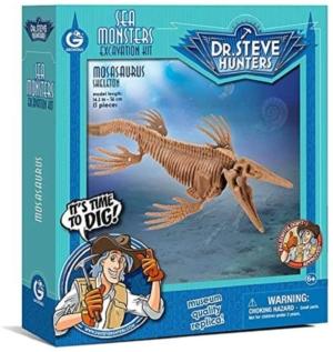 kit de excavacion dr steve hunters monstruos marinos elasmosaurus mosasaurus