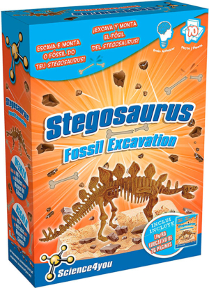 kit de excavacion estegosaurus palontologia science4you 602045