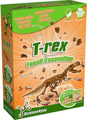 kit de excavacion t rex palontologia science4you 602397