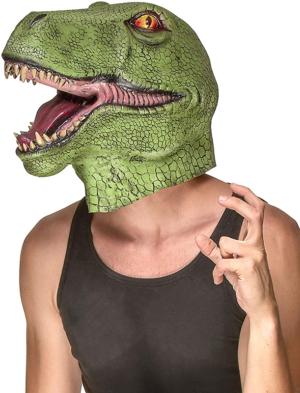 mascara de dinosaurio