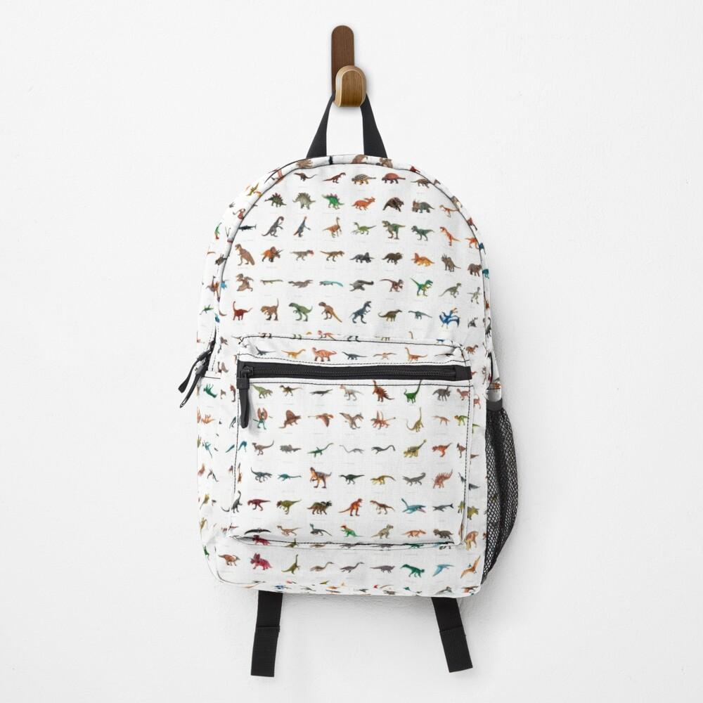 mochila dinosaurios blanca