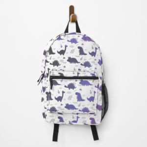 mochila dinosaurios purple fun blanca 1
