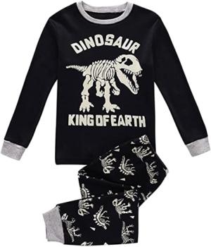 pijama de algodon t rex dinosaur king of the earth con fosiles de dinosaurios
