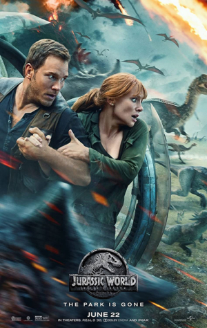 poster jurassic world fallen kingdom 70 x 45 cm owen