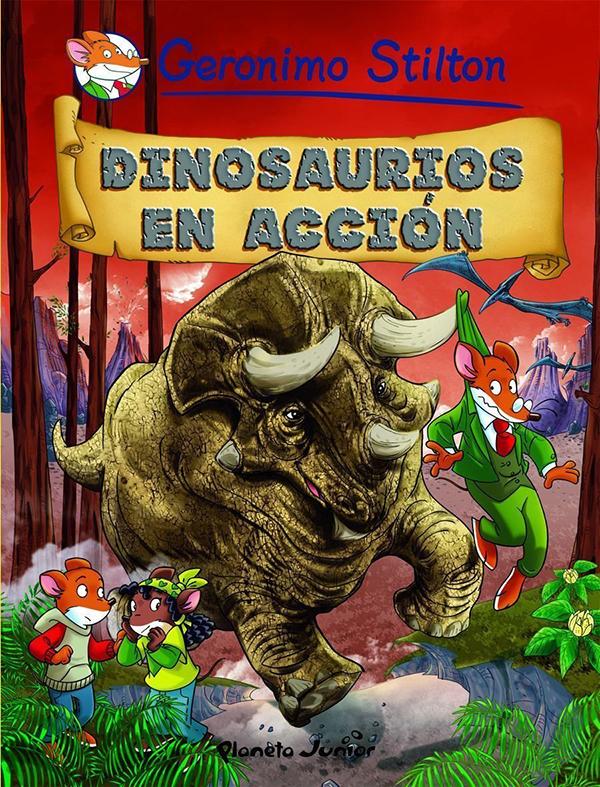 stilton 7 dinosaurios en accion