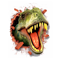 Vinílos de pared con dinosaurios